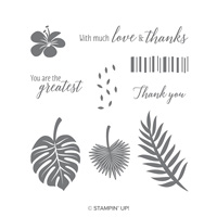 tropical thank you jungle stamps