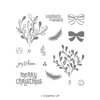 mistletoe christmas stamp set