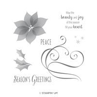 Stylish Christmas Wood-Mount Stamp Set