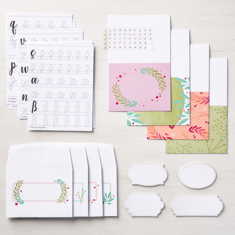 Calligraphy Essentials Clear-Mount Stamp Set
