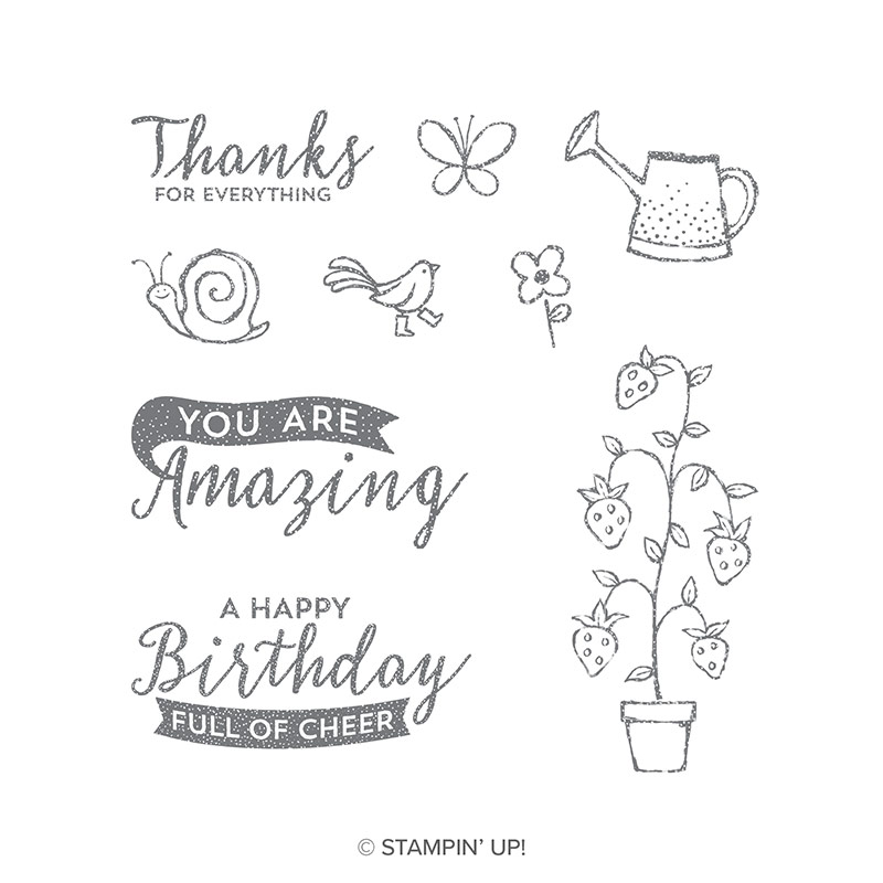 Springtime Stroll Clear-Mount Stamp Set