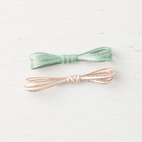 1 green 1 cream ribbon copper edges