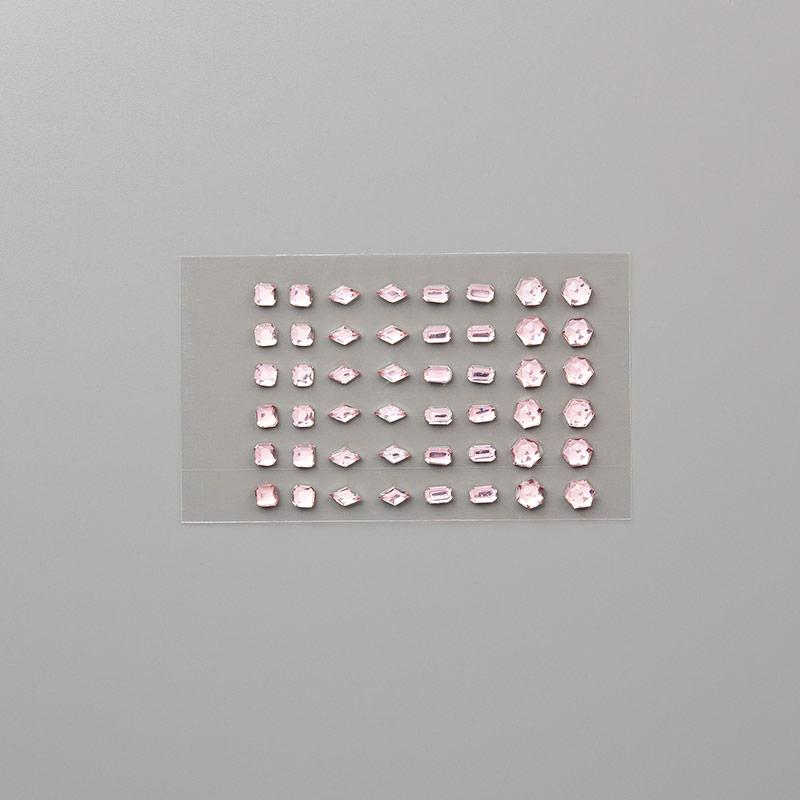Petal pink rhinestone gems