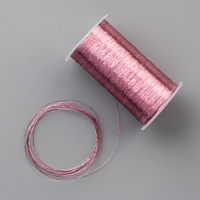 metallic pink thread