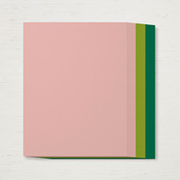deep green and light pink paper