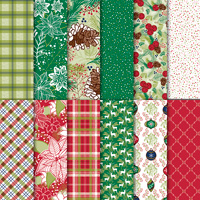 Christmas plaid paper
