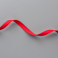 Real Red 3/8 (1 cm) Cotton Ribbon