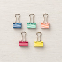 polka dot binder clips