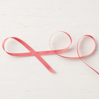 Poppy Parade 1/4 (6.4 mm) Mini Striped Ribbon