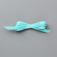 narrow teal striped ribbon
