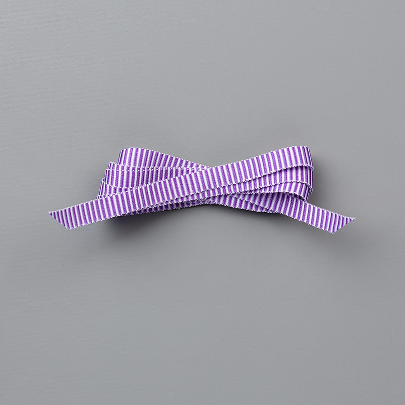 "Gorgeous Grape 1/4"" (6.4 mm) Mini Striped Ribbon"