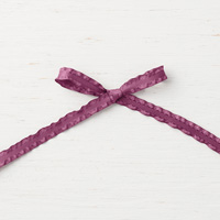 purple ruffled 1/4 ribbon