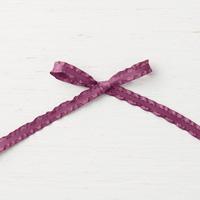 Fresh Fig 3/8 (1 cm) Mini Ruffled Ribbon