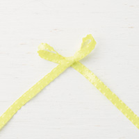 Lemon Lime Twist 3/8 (1 cm) Mini Ruffled Ribbon