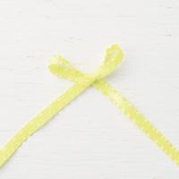 Lemon Lime Twist 3/8 (1 cm) Mini Ruffled Ribbon