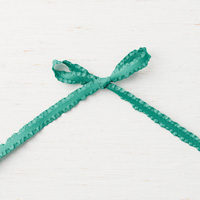 Tranquil Tide 3/8 (1 cm) Mini Ruffled Ribbon