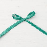 Tranquil Tide 3/8 (1 cm) Mini Ruffled Ribbon