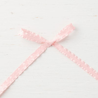Powder Pink 3/8 (1 cm) Mini Ruffled Ribbon