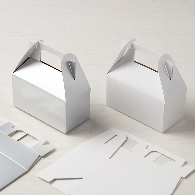 Lustrous White Mini Gable Boxes
