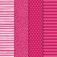 polka-dot and striped paper
