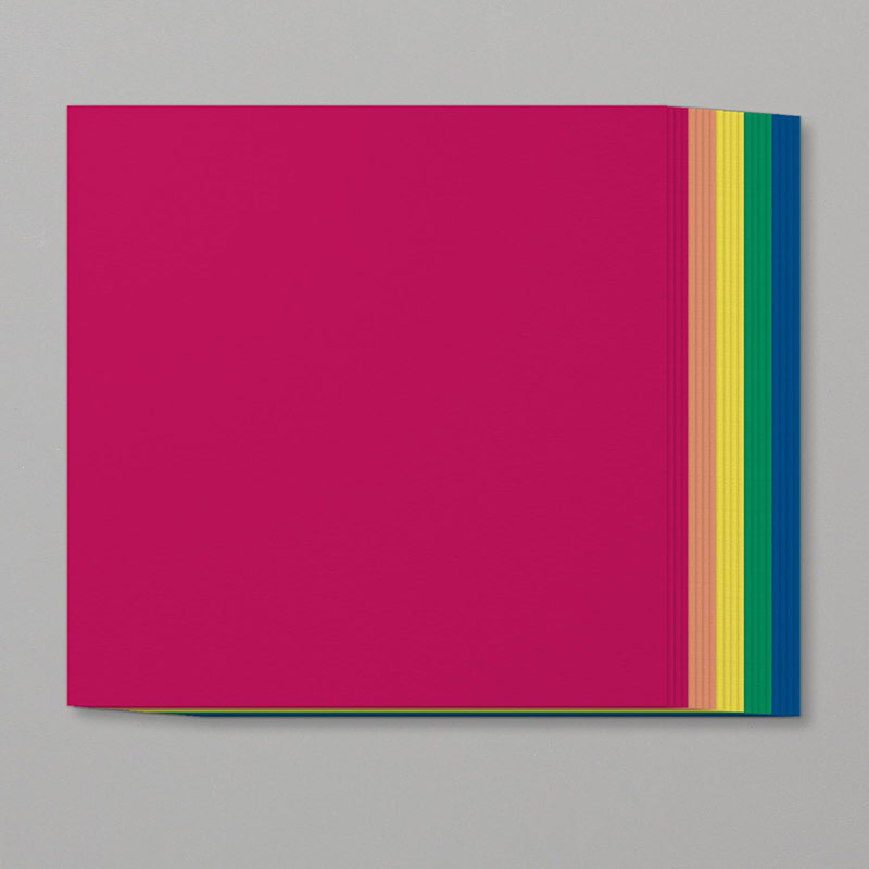 square multi-color paper pack