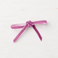 Rich Razzleberry  1/4 (6.4 mm) Velvet Ribbon