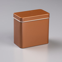 copper gold tea tin