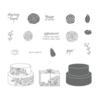Feesttaart Clear-Mount Stamp Set (Dutch)