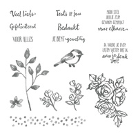 In de bloemetjes zetten Clear-Mount Stamp Set (Dutch)