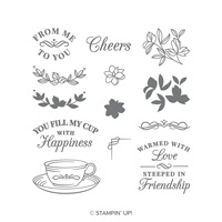 tea cup stamp set