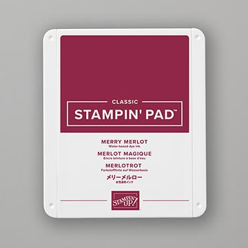 wine purple stamp pad
