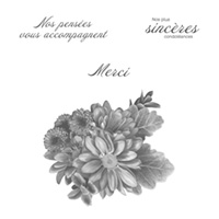 Fleurs sincères Clear-Mount Stamp Set (French)