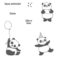 Pandas festifs Clear-Mount Stamp Set (French)