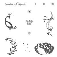 Joli paon Photopolymer Stamp Set (French)