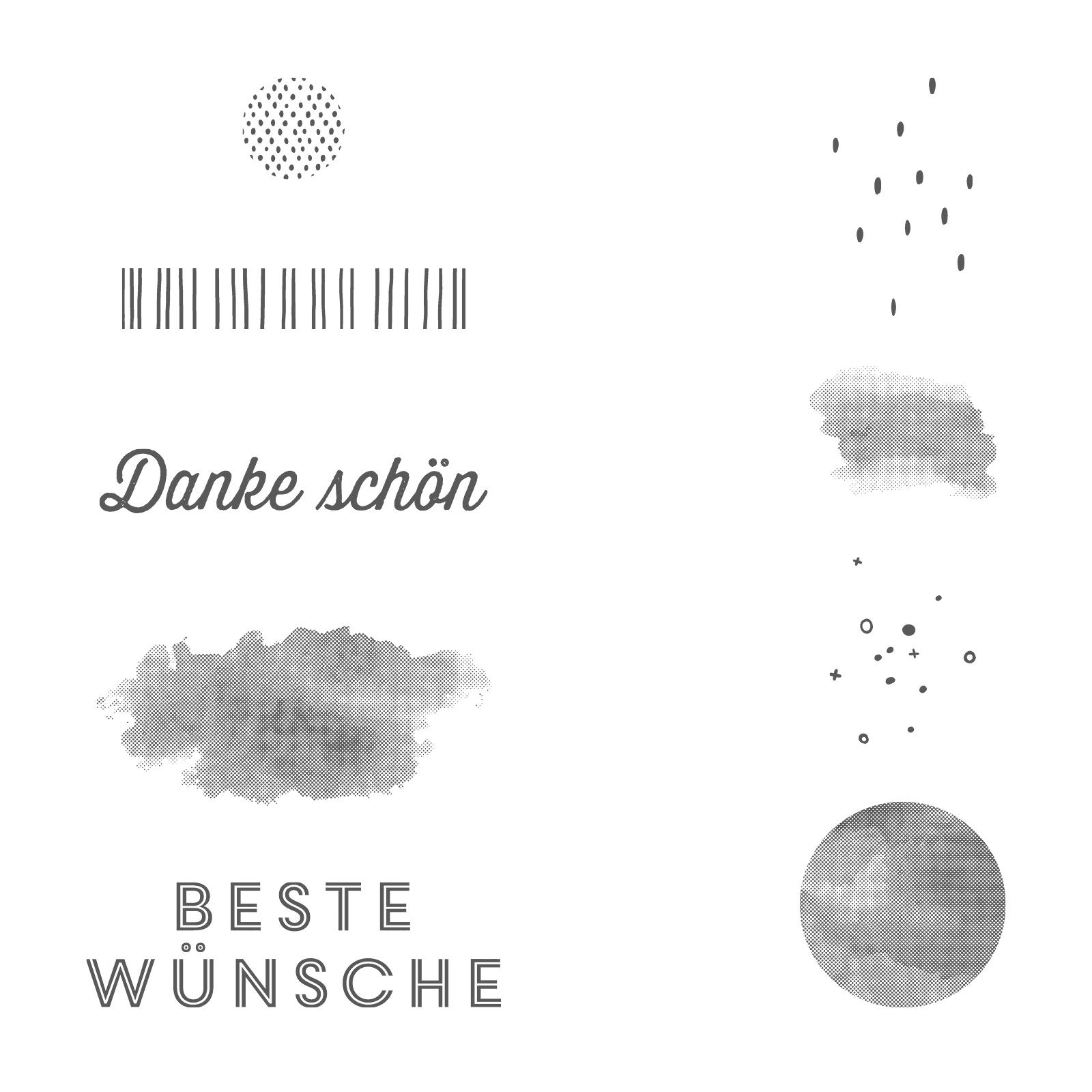 Vielseitige Grüße Clear-Mount Stamp Set (German)