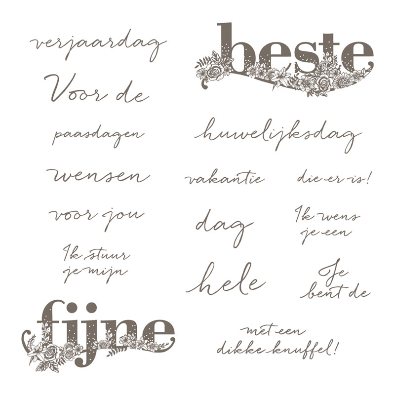 Beste wensen Clear-Mount Stamp Set (Dutch)