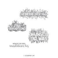 Wunschparade Clear-Mount Stamp Set (German)