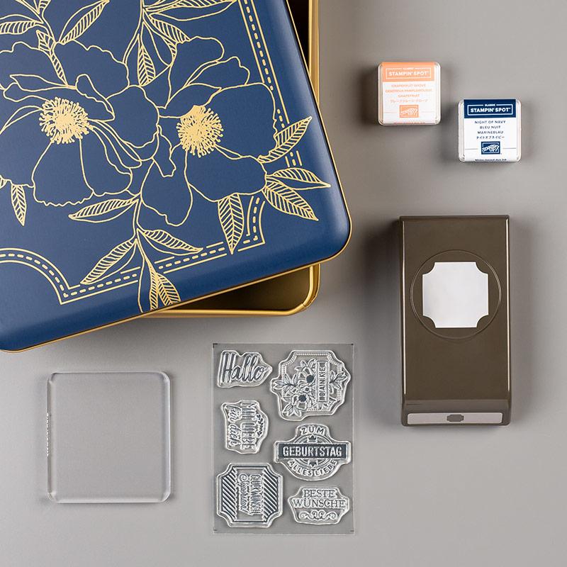 Stanz-Box Exquisite Etiketten (German)