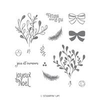 Saison du gui Photopolymer Stamp Set (French)