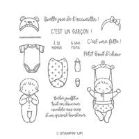 Bébé mignon Clear-Mount Stamp Set (French)