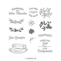 Teezeit Photopolymer Stamp Set (German)