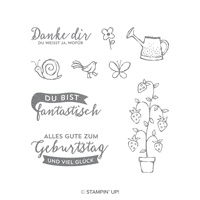 Frühlingsspaziergang Clear-Mount Stamp Set (German)