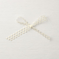 5/8 white polka dot tulle ribbon