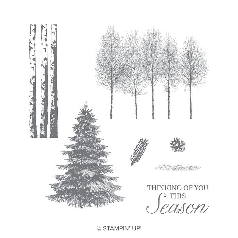 Winter Woods Wood-Mount Stamp Set
