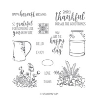 fall flowers stamp set