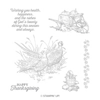 Pleasant Pheasants Wood-Mount Stamp Set