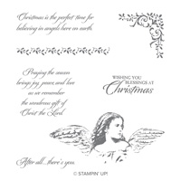 Angels on Earth Wood-Mount Stamp Set