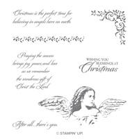 Angels on Earth Wood-Mount Stamp Set
