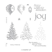 Cross-Stitched Christmas Photopolymer Stamp Set