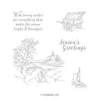 Jeu de timbres à montage transparent Cambridge Carols